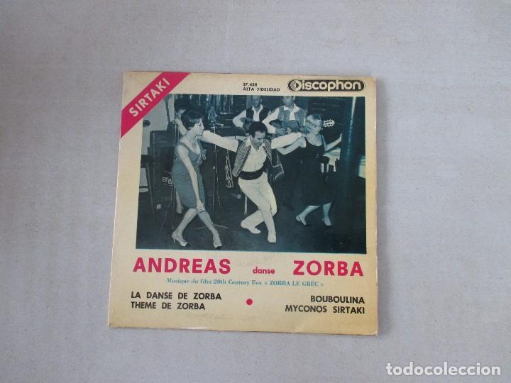SIRTAKI ANDREAS SANSE ZORBA LA DANSE DE ZORBA +3 DISCOPHON 1965 (Música - Discos de Vinilo - EPs - Étnicas y Músicas del Mundo)