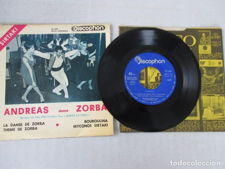 Discos de vinilo: Sirtaki Andreas sanse Zorba La danse de Zorba +3 DISCOPHON 1965 - Foto 3 - 129991699