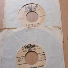 Discos de vinilo: DOMNA SAMIOU/ GREEK ORCHESTRA- 2 SINGLES FOLKRAFT GRECIA- GREEK FOLK. Lote 129996443