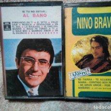 Discos de vinilo: DOS CASSETTES AL BANO Y NINO BRAVO. Lote 129997679