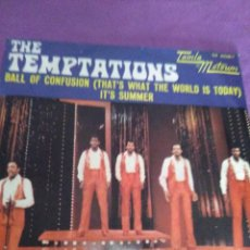 Discos de vinilo: THE TEMPTATIONS BALL OF CONFUSION THAT S WHAT THE WORKD IS TODAY IT S SUMMER PROMO. Lote 130001347