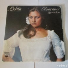 Disques de vinyle: LOLITA - AMOR AMOR + QUE SERA DE MI -SINGLE- CBS 1975 SPAIN 3539 LOLA FLORES. Lote 215639762