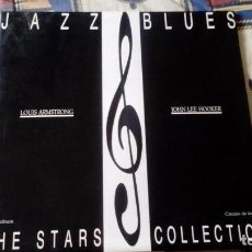 Discos de vinilo: THE STARS COLLECTION-L.ARMSTRONG & J.L.HOOKER.DOBLE DISCO. Lote 130030243