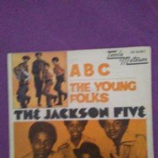 Discos de vinilo: THE JACKSON FIVE ABC THE YOUNG FOLKS PROMO ESPAÑA. Lote 130059531