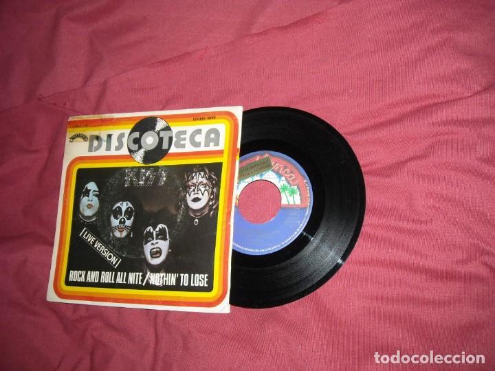 KISS ?SINGLE ROCK AND ROLL ALL NITE (LIVE VERSION) / NOTHIN' TO LOSE 1976 SERIE DISCOTECA PROMOCIO (Música - Discos - Singles Vinilo - Heavy - Metal)
