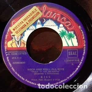 Discos de vinilo: Kiss ?SINGLE Rock And Roll All Nite (Live Version) / Nothin To Lose 1976 Serie Discoteca PROMOCIO - Foto 3 - 130062315