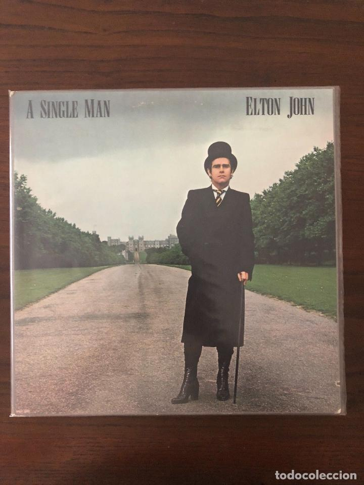 ELTON JOHN ?– A SINGLE MAN LABEL: MCA RECORDS ?– MCA-3065 FORMAT: VINYL, LP (Música - Discos - LP Vinilo - Rock & Roll)
