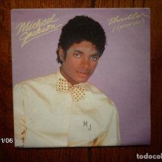 Discos de vinilo: MICHAEL JACKSON - THRILLER (SPECIAL EDIT) + THINGS I DO FOR YOU . Lote 130072911