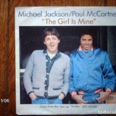 Discos de vinilo: MICHAEL JACKSON / PAUL MACCARTNEY - THE GIRL IS MINE + CAN´T GET OUTA THE RAIN . Lote 130073151