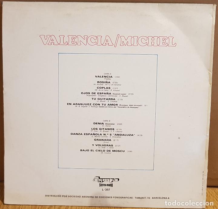 Discos de vinilo: MICHEL / VALENCIA / LP - OLYMPO - 1975 / MUY BUENA CALIDAD./ ***/*** - Foto 2 - 130091875