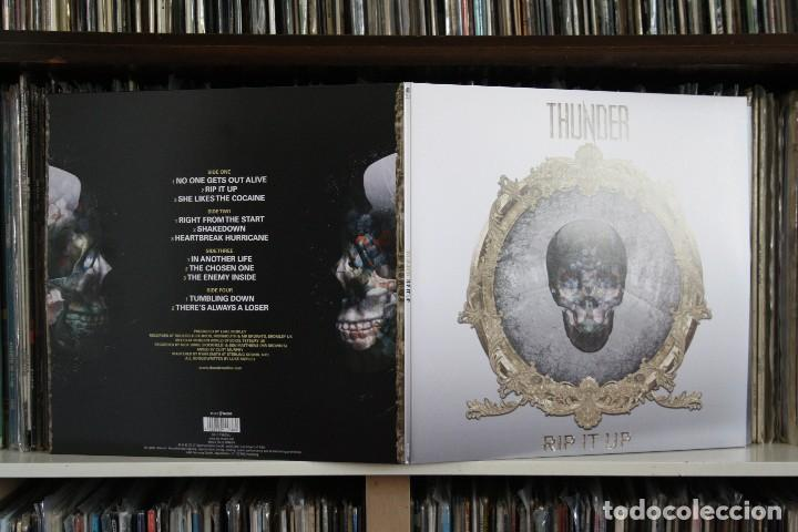 Discos de vinilo: THUNDER. RIP IT UP. DOBLE LP MADE IN GERMANY, NUEVO GATEFOLD. - Foto 3 - 130092643