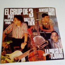 Discos de vinilo: EL GRUP DE 3- DALT DEL TREN - SPAIN EP 1967- COMO NUEVO.. Lote 130093971