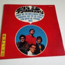 Discos de vinilo: ELS TRES TAMBORS- ROMANÇO DEL FILL DE VIDUA- SPAIN EP 1966- VINILO COMO NUEVO.. Lote 130095263
