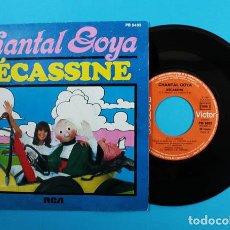 Discos de vinilo: SINGLE CHANTAL GOYA: BECASSINE Y PEINE, RCA PB 8493, EN FRANCES, MUY RARO. Lote 130099791
