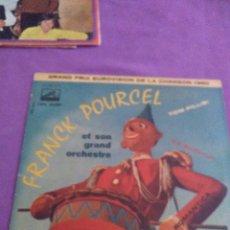 Discos de vinilo: FRANK POURCEL ET SON GRAN ORCHESTRE GRAND PRIX EUROVISION DE LA CHANSON 1960. Lote 130101551