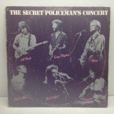 Discos de vinilo: THE SECRET POLICEMAN'S CONCERT - LP VINILO - 1982. Lote 130116023