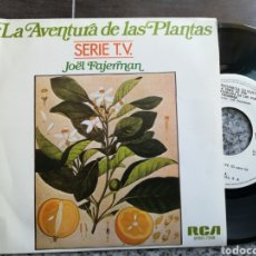 Discos de vinilo: JOEL FAJERMAN SINGLE PROMOCIONAL LA AVENTURA DE LAS PLANTAS FLOWER'S LOVE ESPAÑA 1982 + HOJA PROMO. Lote 130142251