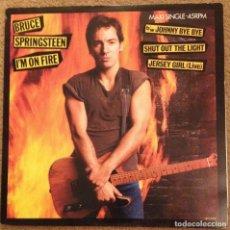 Discos de vinilo: BRUCE SPRINGSTEEN - I'M ON FIRE 85 - RARO MAXI 4 TEMAS, JERSEY GIRL LIVE - LABEL ROJO,COLLECTORS, EX. Lote 130153471