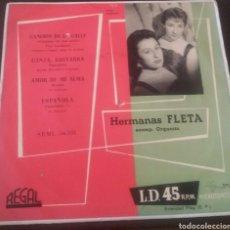 Discos de vinilo: HERMANAS FLETA. CANCIÓN DE LA CALLE. EP REGAL. 1958. Lote 130166058