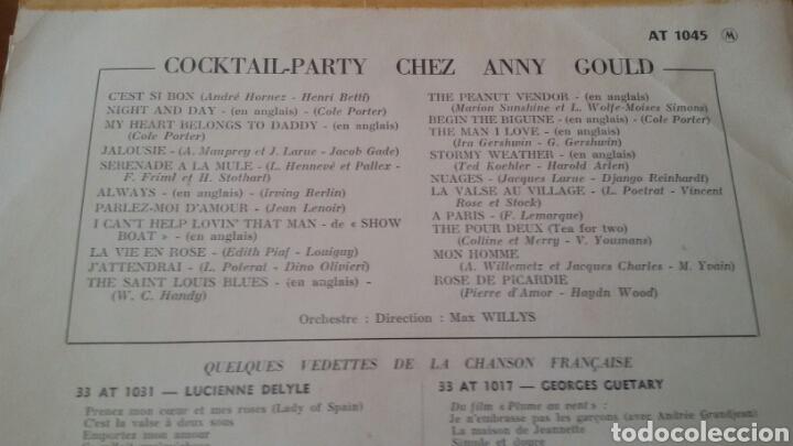 Discos de vinilo: ANNY GOULD. COCKTAIL PARTY CHEZ. LP PATHÉ, FRANCE. - Foto 2 - 130167998