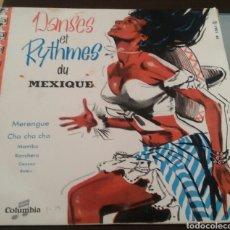 Discos de vinilo: DANSES ET RYTHMES DU MEXIQUE. LP, COLUMBIA, FRANCE.. Lote 130169120