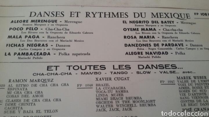 Discos de vinilo: DANSES ET RYTHMES DU MEXIQUE. LP, COLUMBIA, FRANCE. - Foto 4 - 130169120