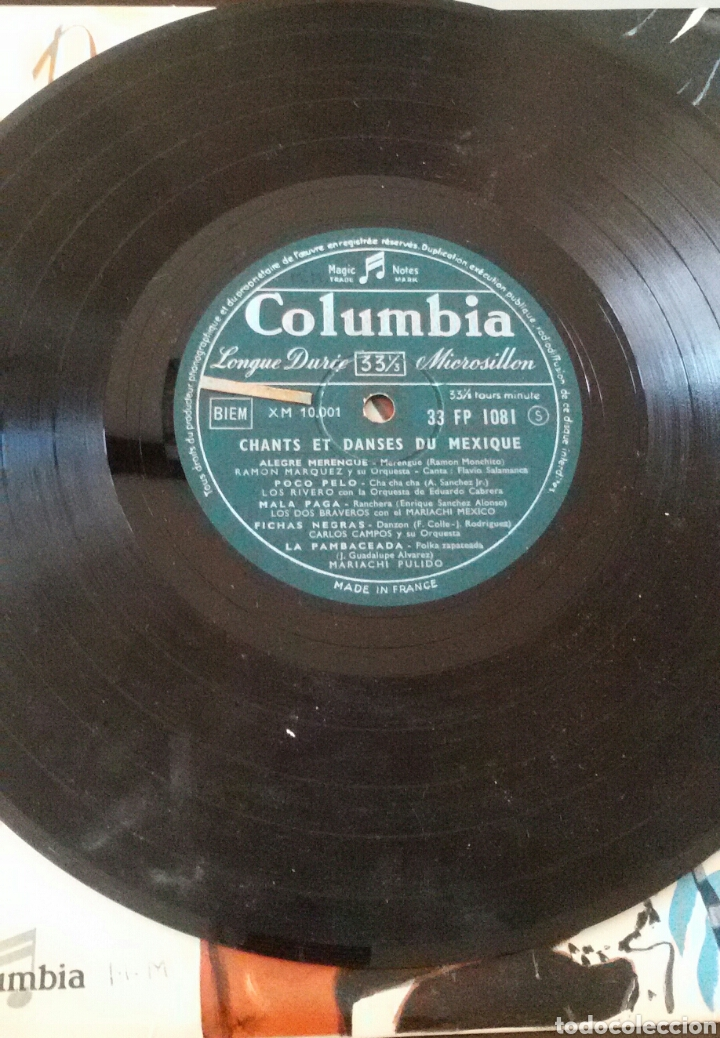 Discos de vinilo: DANSES ET RYTHMES DU MEXIQUE. LP, COLUMBIA, FRANCE. - Foto 5 - 130169120