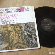 Discos de vinilo: LP VINILO. ANTOLOGIA HISTÒRICA DE LA MÚSICA CATALANA. LA RENAIXENÇA. PROBADO.. Lote 130178427