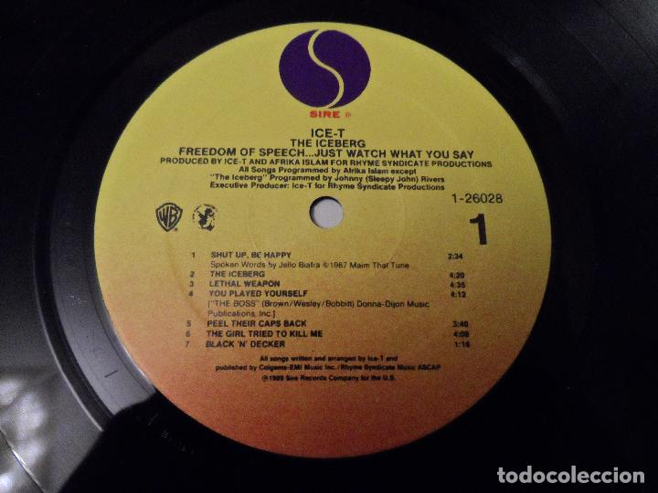Discos de vinilo: Ice-T ?– The Iceberg (Freedom Of Speech... Just Watch What You Say) - Foto 3 - 130181219