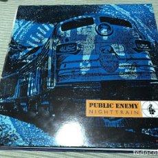 Discos de vinilo: PUBLIC ENEMY - NIGHTRAIN - MAXI DEF JAM 92 HOLANDA - HIP HOP RAP. Lote 130211543