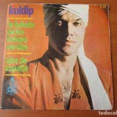 Discos de vinilo: KULDIP LA BALADA DE LOS BOINAS VERDES/ OJOS DE ESPAÑA HISPAVOX 1966. Lote 130212435
