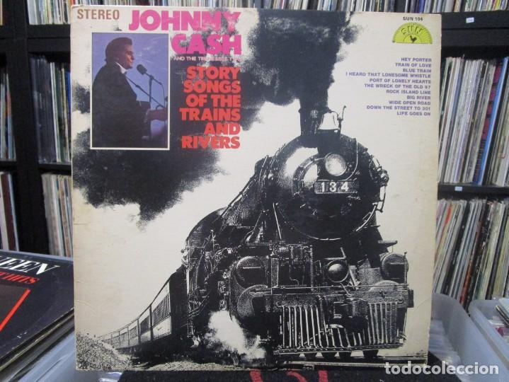 JOHNNY CASH AND THE TENNESSEE TWO* - STORY SONGS OF THE TRAINS AND RIVERS LP 1969 USA (Música - Discos - LP Vinilo - Country y Folk)