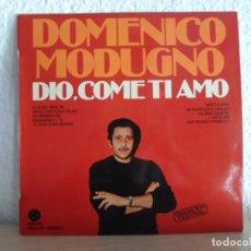 Discos de vinilo: *** DOMENICO MODUGNO - DIO, COME TI AMO (GRABACIÓN ORIGINAL) - LP 1979 - LEER DESCRIPCIÓN. Lote 130230778