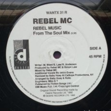Discos de vinilo: REBEL MC – REBEL MUSIC. Lote 130237330