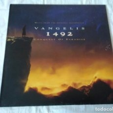 Discos de vinilo: 58-LP VANGELIS, 1492 THE CONQUEST OF PARADISE, 1992. Lote 130244982