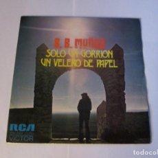 Disques de vinyle: B.B. MUÑOZ - SOLO UN GORRION + UN VELERO DE PAPEL / CIVILIZACION -SINGLE- RCA 1974SPAIN PROMO N MINT. Lote 130246182