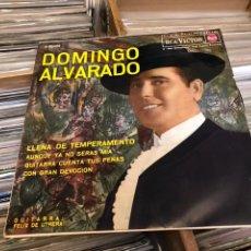 Discos de vinilo: DOMINGO ALVARADO LLENA DE TEMPERAMENTO CON FELIX DE UTRERA EP DISCO DE VINILO SINGLE. Lote 130257158