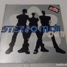 Discos de vinilo: STEREO MC'S - 33 45 78 (SPAIN 1989). Lote 130260734