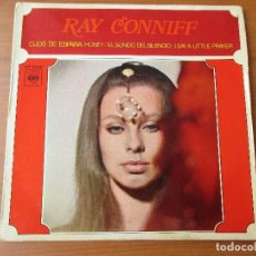 Discos de vinilo: RAY CONNIFF OJOS DE ESPAÑA/ HONEY/ EL SONIDO DEL SILENCIO/ I SAY A LITTLE PRAYER CBS 1968. Lote 130279878