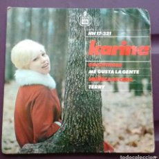 Discos de vinilo: KARINA - GOLDFINGER/ME GUSTA LA GENTE/MUÑECA DE CERA/TERRY. Lote 289353103