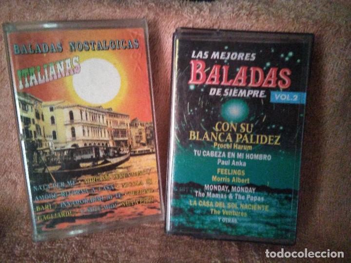 DOS CASSETTES EXITOS DE BALADAS (Música - Discos de Vinilo - Maxi Singles - Canción Francesa e Italiana)
