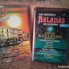 Discos de vinilo: DOS CASSETTES EXITOS DE BALADAS. Lote 130284002