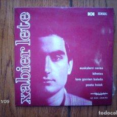 Discos de vinilo: XABIER LETE - EUSKALERRI NEREA + POETA HOIEK + BIHOTZA + LORE GORRIEN BALADA . Lote 130286026