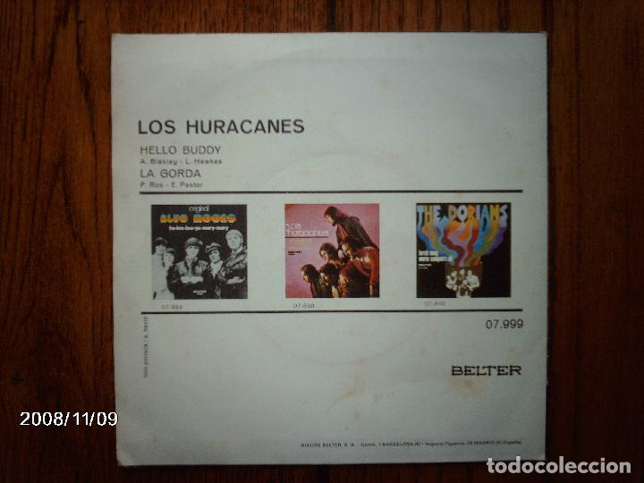 Discos de vinilo: los huracanes - hello buddy + la gorda - Foto 2 - 130286154