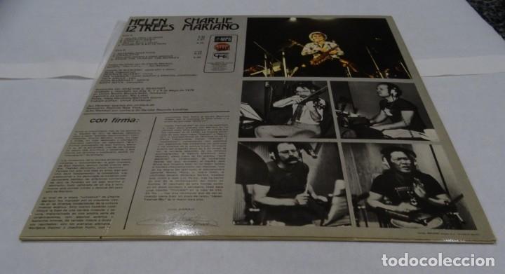 Discos de vinilo: CHARLIE MARIANO - HELEN 12 TREES -LP 1976. Firmado por el autor. - Foto 3 - 109026203