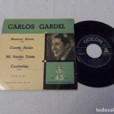 Discos de vinilo: CARLOS GARDEL - BUENOS AIRES +3. Lote 130332402