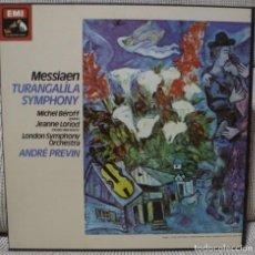 Discos de vinilo: MESSIAEN - TURANGALILA SYMPHONY (CAJA 2 LPS + LIBRETO EMI UK) VINILOS COMO NUEVOS. Lote 130340334