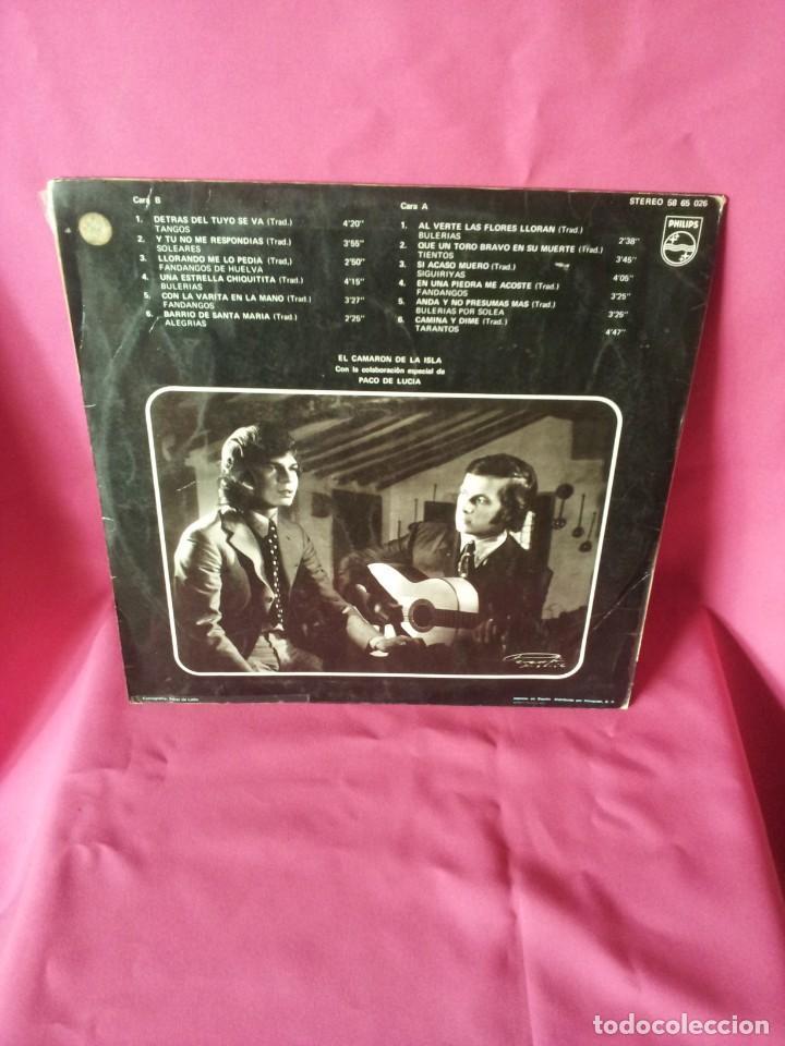 Discos de vinilo: LP, EL CAMARON DE LA ISLA CON LA COLABORACION ESPECIAL DE PACO DE LUCIA - PHILIPS 1969 - Foto 2 - 130345682