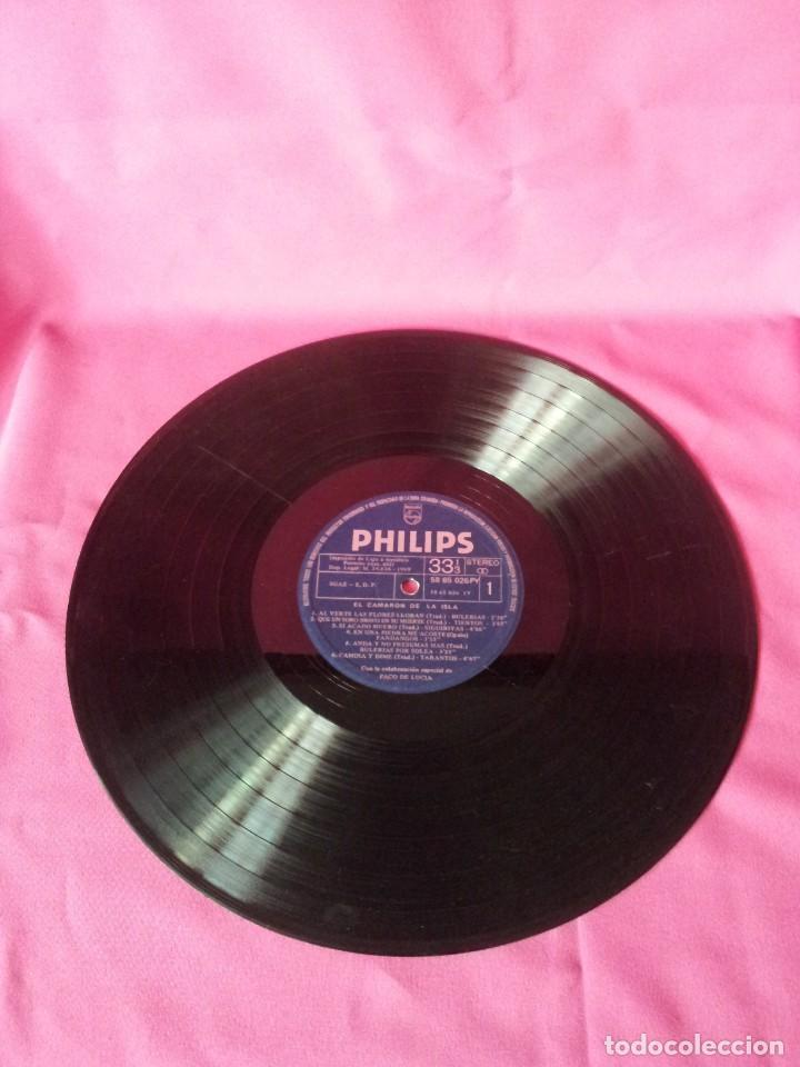 Discos de vinilo: LP, EL CAMARON DE LA ISLA CON LA COLABORACION ESPECIAL DE PACO DE LUCIA - PHILIPS 1969 - Foto 3 - 130345682