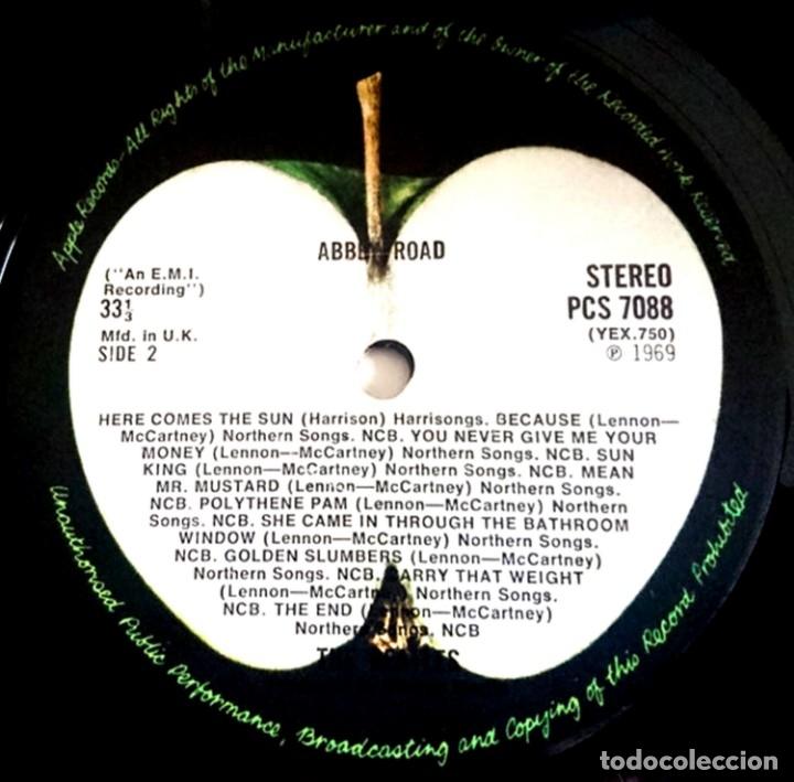 Discos de vinilo: The Beatles - Abbey Road (Psichedelic) 1ª Edicion UK 1969 con Errata en Portada y Label, Muy Raro... - Foto 5 - 50305164